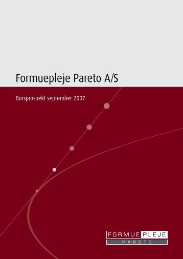 Formuepleje Pareto A/S