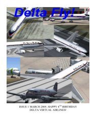 March 2005 First Issue - Delta Virtual Airlines