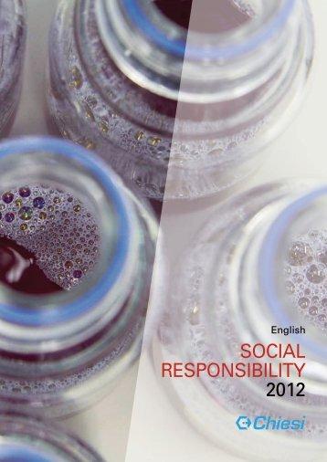 SOCIAL RESPONSIBILITY 2012 - Chiesi