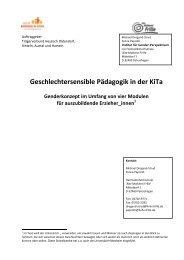 Geschlechtersensible Pädagogik in der KiTa - Koordinationsstelle ...