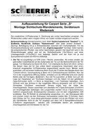 """""""S"""" Montage Sichtschutz-Wandelemente, Geräteraum ... - Scheerer"""