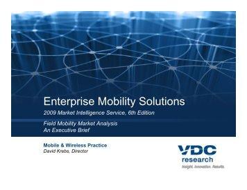 Enterprise Mobility Solutions p y - VDC Research