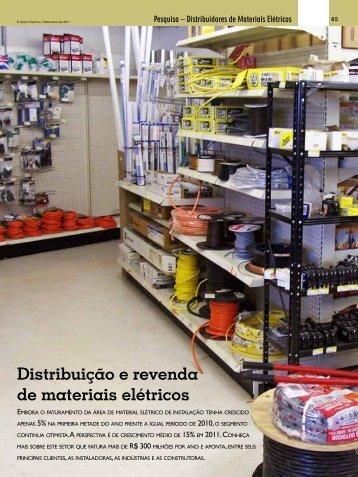 Distribuição e revenda de materiais elétricos - Revista O Setor Elétrico