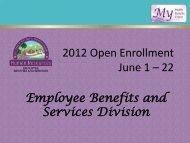 2012 Open Enrollment June 1 – 22