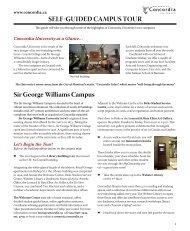 Self-Guided Campus Tour - Concordia University - MBA School Profile