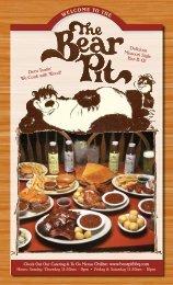Menu - Bear Pit BBQ Restaurant