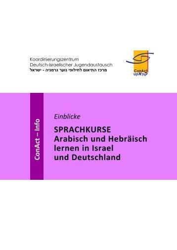 Sprachkurse für Hebräisch und Arabisch - ConAct