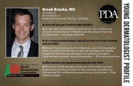 young dermatologist profile - Pacific Dermatologic Association