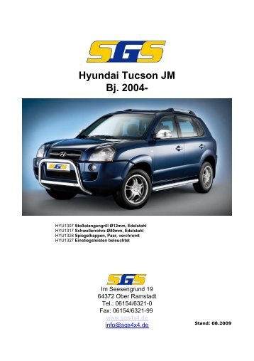 Hyundai Tucson JM Bj. 2004- - SGS
