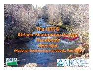 The NRCS Stream Restoration Design Handbook NEH-654 The ...