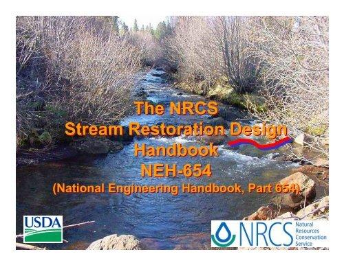 nrcs stream restoration design handbook neh