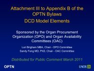 OPO Committee Action-DCD Model ... - Transplant Pro