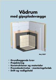 Vådrum med gipspladevægge - Gyproc