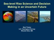 Rob Thieler from U.S. Geological Survey Presentation - Connecticut ...