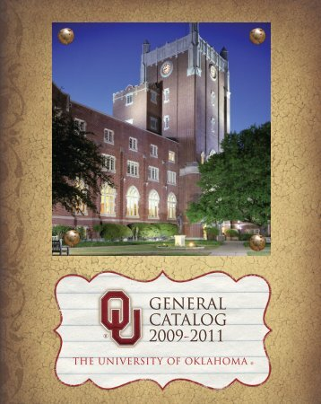 University of Oklahoma General Catalog 2009-11