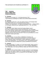Jahresbericht Fußball Junioren 2009 - TSV Neunkirchen am Brand