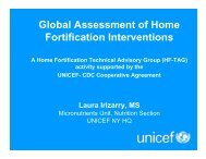 Global Assessment of Home Fortification ... - The iLiNS Project