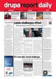 Landa challenges offset - drupa report daily epaper