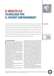E-Health 2.0 Tecnologie per il Patient Empowerment - Marketing ...