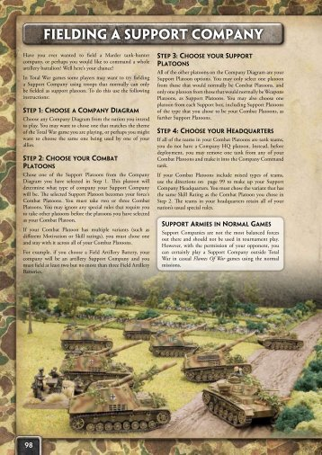 Fielding a Support Company - Flames of War