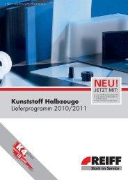 Kunststoff Halbzeuge - REIFF Technische Produkte