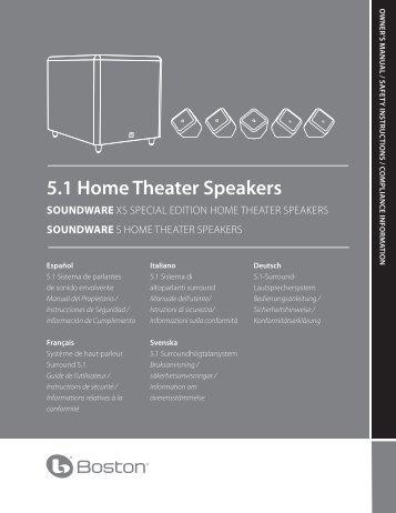 5.1 Home Theater Speakers SOUNDWARE - Boston Acoustics