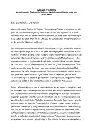 WERNER FAYMANN Amtsführender Stadtrat für Wohnen, Wohnbau ...