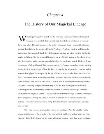 Chapter 4 The History of Our Magickal Lineage