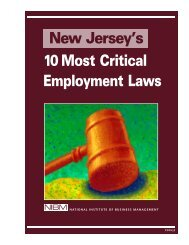 New Jersey's 10 Most Critical Employment Laws