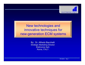 New technologies and innovative techniques for new-generation ...