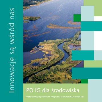 PO IG dla środowiska - Program Innowacyjna Gospodarka