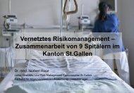 Zusammenarbeit von 9 Spitälern im Kanton St.Gallen