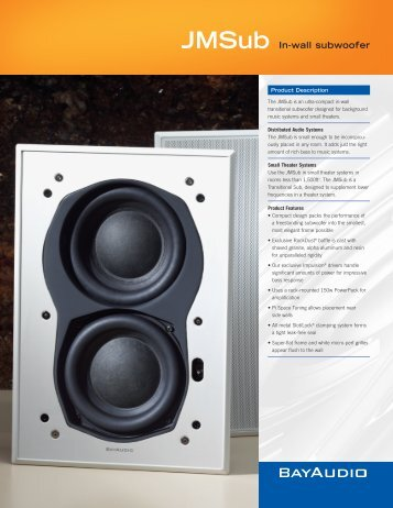 JMSub In-wall subwoofer - Hill Residential Systems