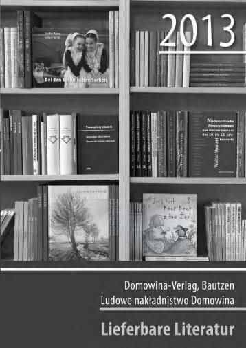 Belletristik - Domowina-Verlag Bautzen