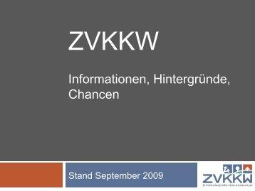 Sitzung der Gründungsmitglieder des ZVKKW