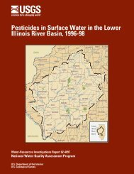 Pesticides in Surface Water in the Lower Illinois River Basin, 1996-98