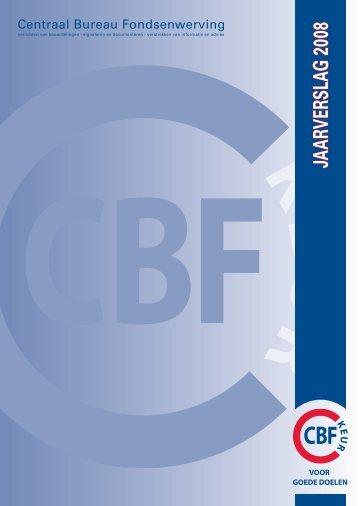 JAARVERSLAG 2008 - CBF
