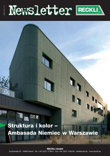 Struktura i kolor – Ambasada Niemiec w Warszawie