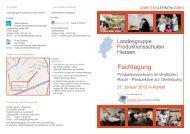 Fachtagung - Bundesverband Produktionsschulen