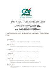 Liste des publications 2009 - Crédit Agricole Loire Haute Loire