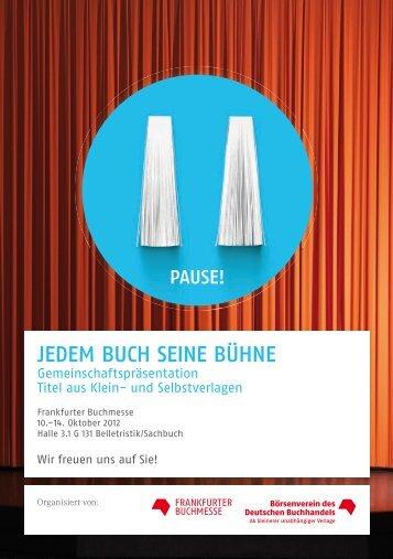 Titelliste Kleinverlage - Frankfurter Buchmesse