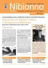 aprile 2009 - Comune di Nibionno