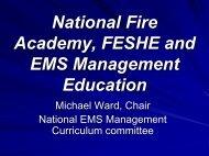 Targeted Professional Development Needs - NHTSA EMS