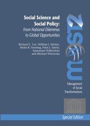 International Forum on the Social Science ... - unesdoc - unesco