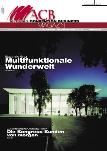 Multifunktionale Wunderwelt -  Austrian Convention Bureau