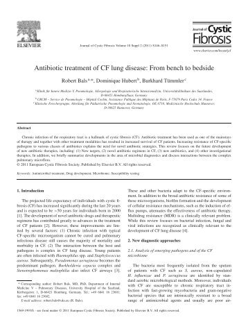 Antibiotic treatment of CF lung disease: From bench to bedside