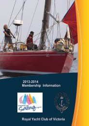 2013/2014 membership brochure - Royal Yacht Club of Victoria ...