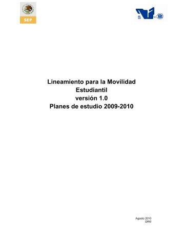 Lineamiento para la Movilidad Estudiantil versión 1.0 Planes ... - ITCJ