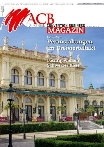Veranstaltungen im Dreivierteltakt - Austrian Convention Bureau