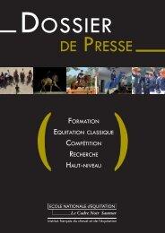 Dossier de presse Ecole Nationale d'Equitation - Cadre Noir